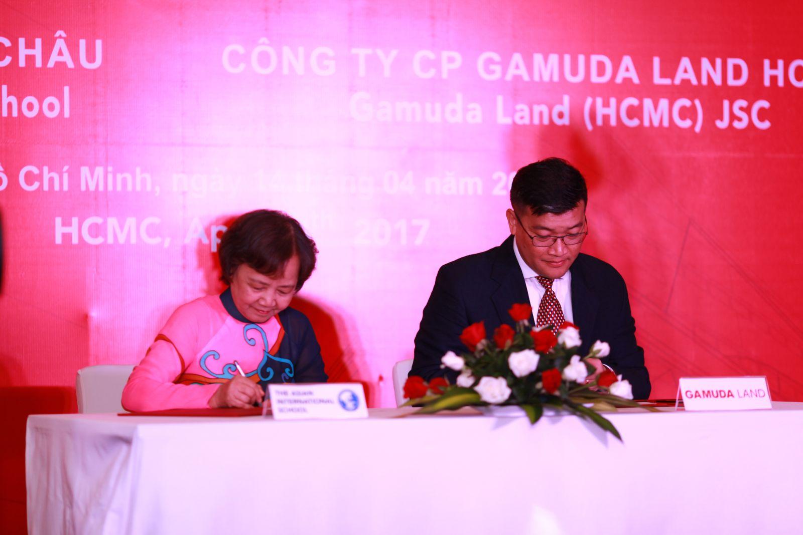 Lễ ký kết thỏa thuận hợp tác chiến lược giữa Công ty Cổ phần Gamuda Land (HCMC) và Trường quốc tế Á Châu