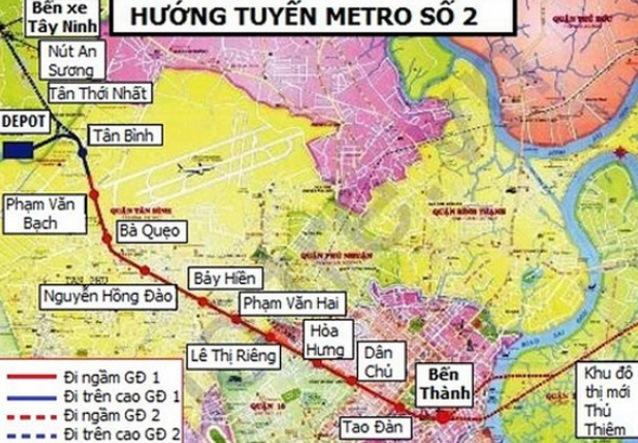 UBND TP.HCM phê duyệt giá bồi thường đất cho tuyến Metro số 2