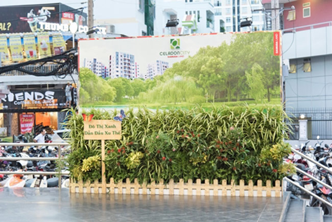 Celadon City mang thiết kế xanh vào billboard quảng cáo