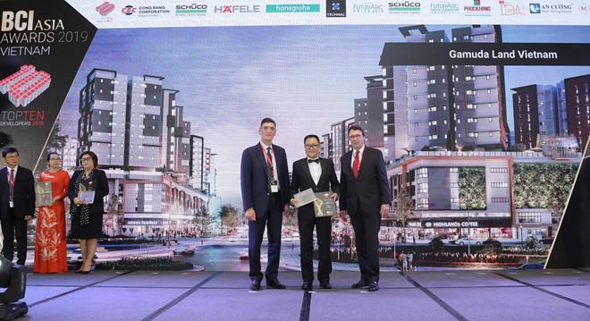 """Gamuda Land nhận giải """"Top 10 Nhà phát triển bất động sản tốt nhất Việt Nam"""""""